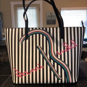 Henri Bendel About Town Tote Brown Stripe